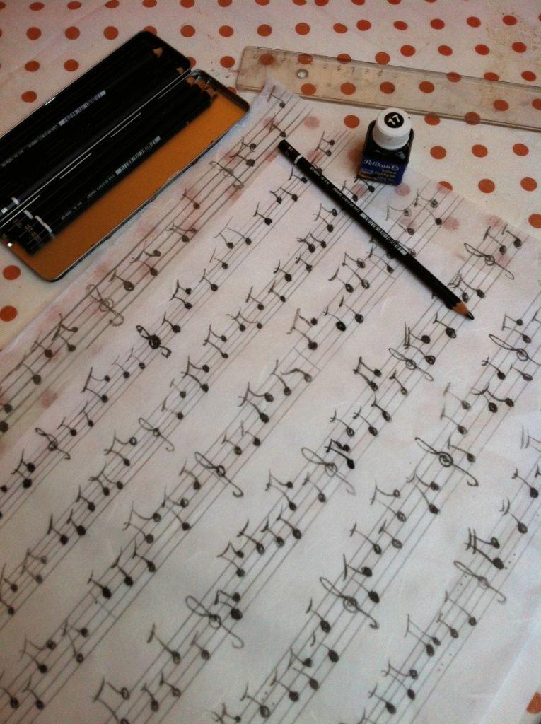 Peinture du papier musique