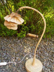 Lampe fleur balancelle 1