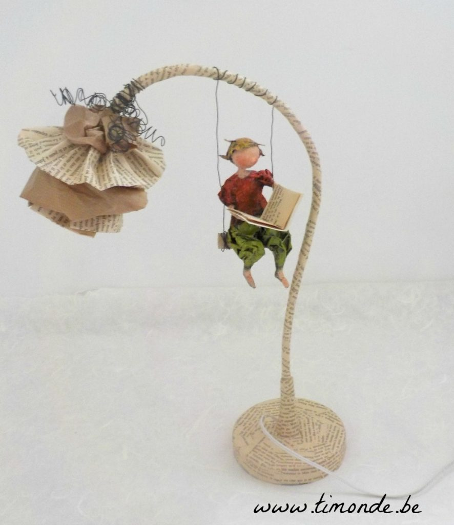 Lampe fleur balancelle 4